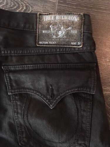 Religion 34 Size Mens True Exclusive Ricky All Black Jeans dOw17x