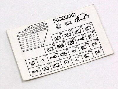 [DIAGRAM_38IS]  Dash Fuse Box Diagram Card 98-10 VW Beetle - Genuine - 1C0 010 232 K | eBay | 1998 Vw Beetle Fuse Box Diagram |  | eBay