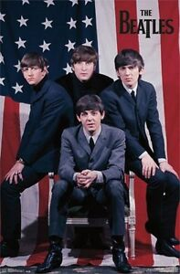 THE-BEATLES-POSTER-Amazing-US-Flag-Group-Shot-RARE-HOT-NEW-22x34
