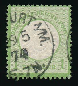 D-Reich-Nr-23-gestempelt-K1-FRANKFURT-29-5-75-1-Kr-grosser-Schild-58263