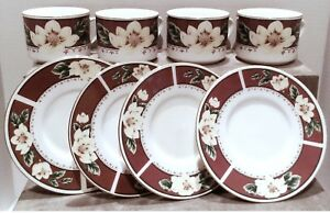 Gibson-Cup-and-Saucer-Set-Set-of-4-Coffee-Cup-Set-Gibson-Magnolia-Bloom
