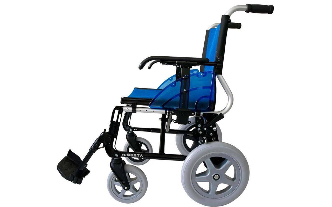s l1600 - Silla de ruedas de Aluminio plegable FORTA Line con rueda de 300