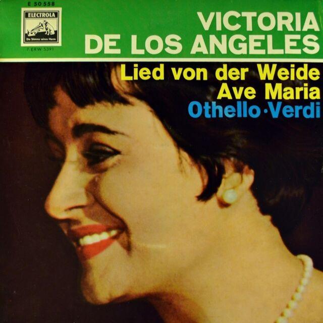 """7"""" VICTORIA DE LOS ANGELES & GIANELLA BORELLI Lied von der Weide VERDI Othello"""