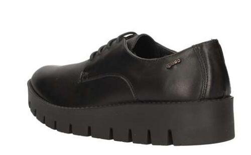IGI /& CO 67981 00 NERO scarpe donna pelle polacchine derby sneakers casual