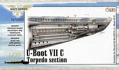 CMK 1:72 Type VIIc U-Boat interior torpedo section for Revell kit