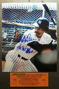 Signed-8x10-photo-Mike-Easler-NY-Yankees