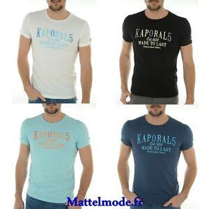 Tee-shirt-Kaporal-manches-courtes-Homme-KOREV-divers-colorie-Taille-S-M-L-XL-XXL