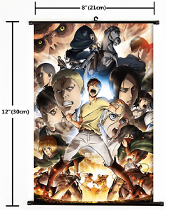 1886 Japan Anime Attack On Titan home decor Wall Scroll Poster A