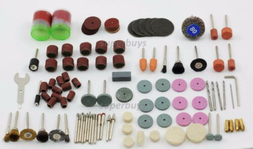 155pc Rotary Drill Bit Die Grinder Stone Polishing Grinding Buff Dremel Tool Set