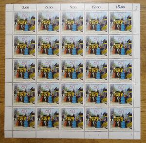 Bund-1112-postfrisch-kompletter-Bogen-Tag-der-Briefmarke-1981-Formnummer-FN-1