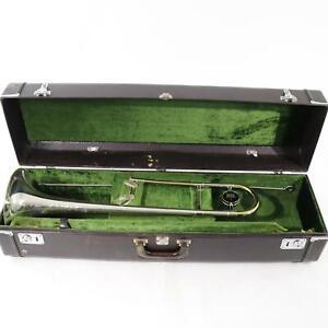 King-Model-3B-039-Silversonic-039-Professional-Trombone-SN-49429-SOLID-SILVER-BELL