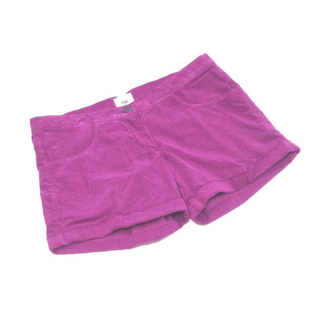 Fendi Pants Purple Woman Gilrs Authentic Used D1769