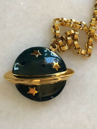 CAROLEE Celestial Watch Necklace    Stars & Planet