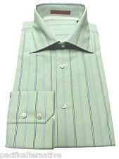 Chemise MGB taille 39 vert pour HOMME manches longues habillé costume coton NEUF