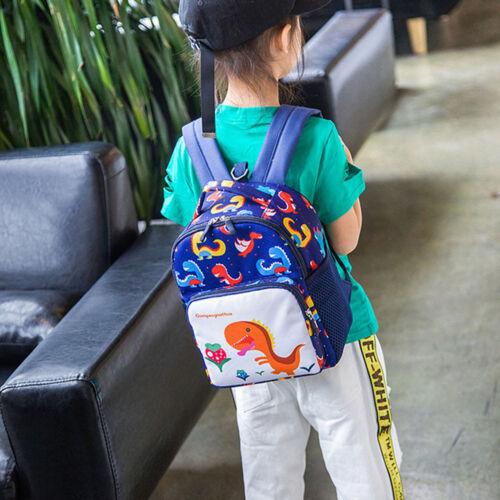 Child Baby Girls Boys Cartoon Dinosaur Printed Backpack Toddler School Bag