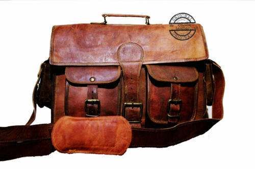 Bag Leather Unisex Handbag Shoulder Briefcase Messenger Business Laptop Satchel