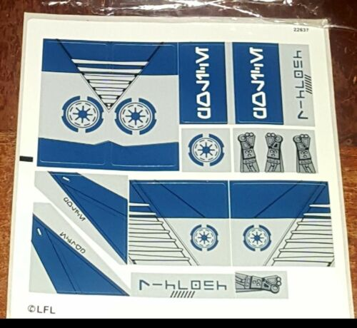 Lego Star Wars Cruscant Police Gunship # 75046 ×1 Sticker Sheet For The Ship NEW