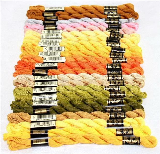 115 5-726 DMC Pearl Cotton Skein Size 5 27.3yd-Light Topaz