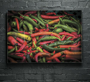 Canvas-Glass-Wall-Art-Print-Picture-Large-ANY-SIZE-Food-Chilli-Spice-p4884