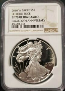 2016-W-PROOF-NGC-PF-70-UC-SILVER-EAGLE-LETTERED-EDGE-30TH-ANNIVERSARY-CLASSIC