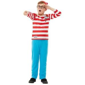 Where/'s Wally Comic Cartoon Book Day Boys Kids Fancy Dress Party Costume Small
