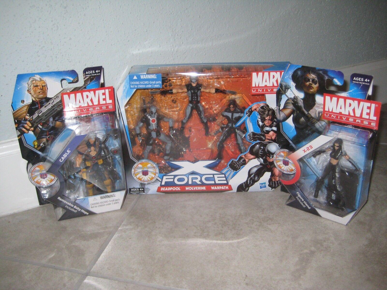 Marvel Universe 3.75 Legends Infinite X-Force 3pk DEADPOOL CABLE X-23 X-23 X-23 Lot NEW bea48d