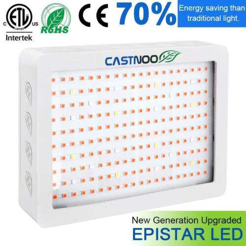 CASTNOO 1000W LED Grow Light Full Spectrum Hydroponic Veg Flower Plant Panel DA