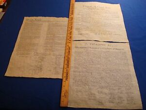 Declaration-Constitution-Bill-Of-Rights-Replicas-Historical-Documents