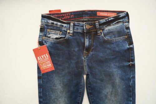 29 Stretch blau NEU CROSS  ALYSS  Jeans Super Skinny 7//8  W 26 27 28