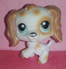 authentic LPS 344 EPAGNEUL littlest petshop chien DOG spaniel tan cocker HASBRO