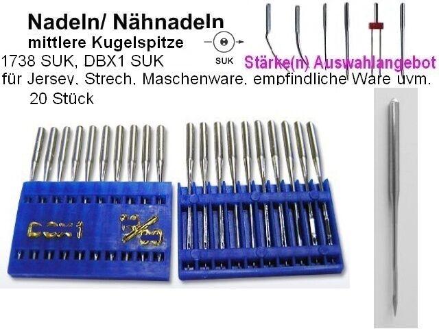 Stärken zur eig 100 Nähnadeln AUSWAHL Nadeln  DBx1