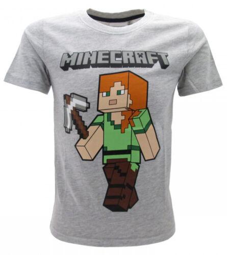 T-Shirt Minecraft Original Alex Miner Official Packet Gift Boy Baby