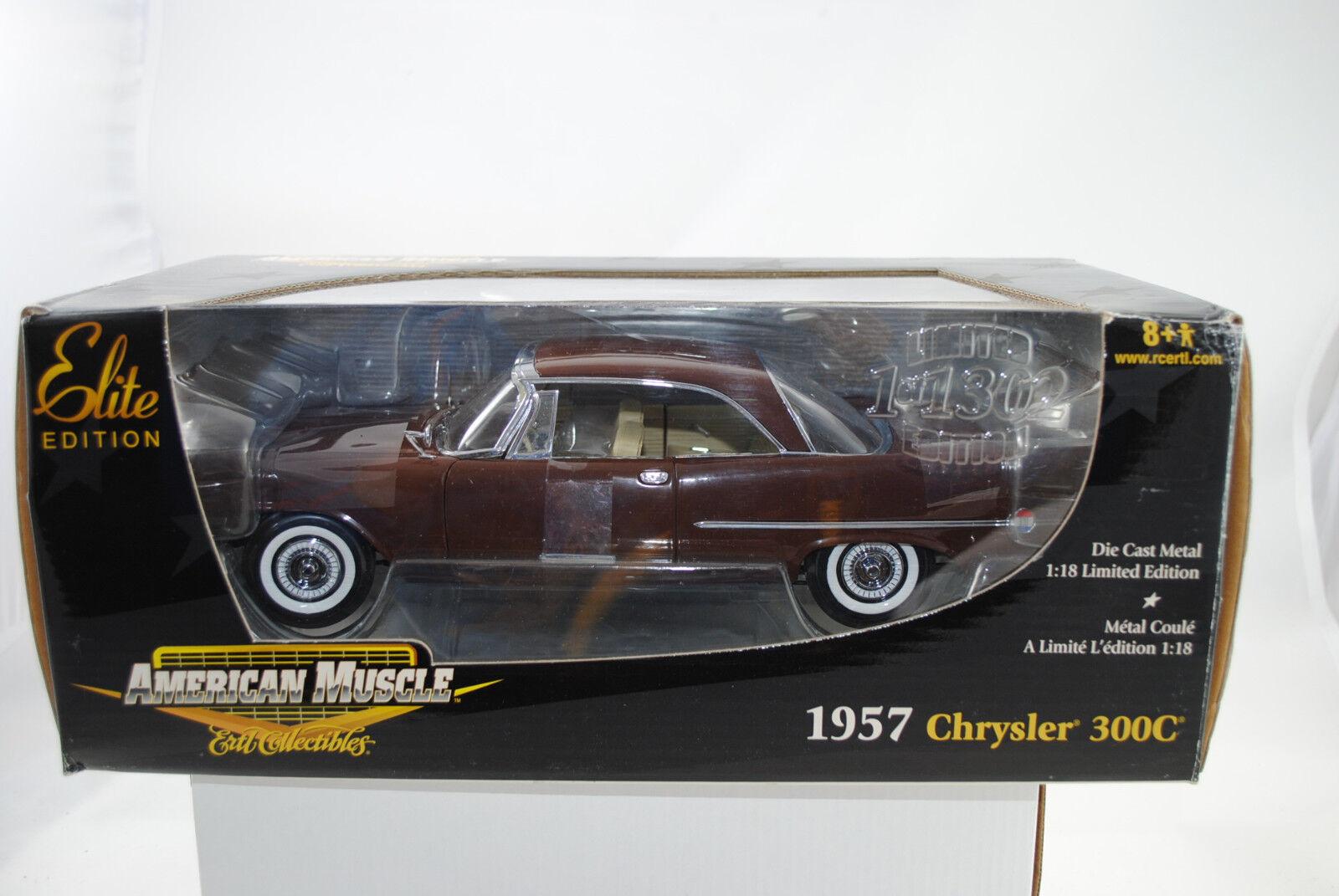 1:18 Ertl Elite Editon 1957 Chrysler 300c Marrone Edizione Limitata