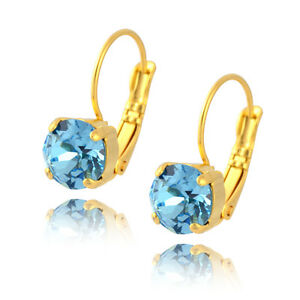 Nara-Round-Crystal-Drop-Earrings-Gold-Plated-with-Swarovski-Circle