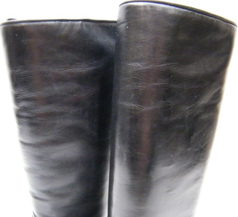 WOMENS BRUNO INSULATED MAGLI TALL BLACK FLAT INSULATED BRUNO LEATHER RIDING BOOTS SZ 36 USA 6 76afc4