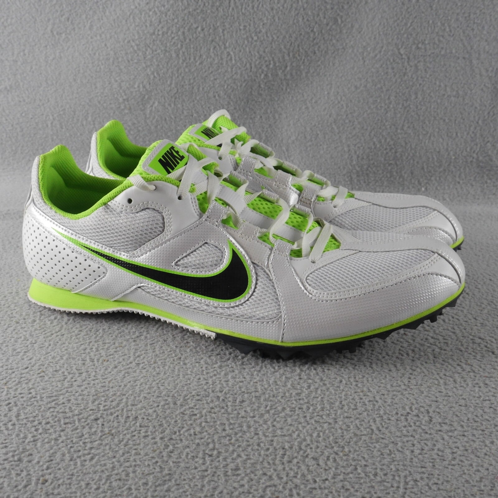 61f46d382f EUC Nike 468648 103 Zoom Rival MD Track & Field White Lime Black Size 11  ANB nsckkm5207-Athletic Shoes