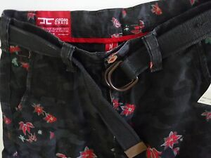 Floral Hawaii tag Shorts Sz 32 Nuovi Party Jordan Christmas Belt W Craig Camo SAXxcqw5