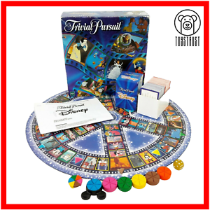 Trivial-Pursuit-Disney-Edition-Vintage-1999-Family-Board-Game-Incomplete-Hasbro