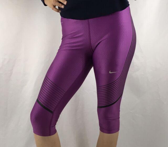 f2c763114406bf NIKE Power Speed Women's Capri Leggings Pants Dri-Fit Purple 801694 $110  Size S