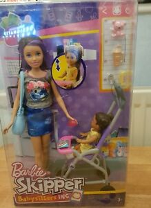 Barbie Skipper Babysitter Stroller Playset With Baby Doll and Accessories