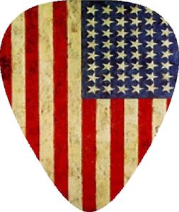 10-U-S-American-Flag-Guitar-Picks-Printed-Both-Sides
