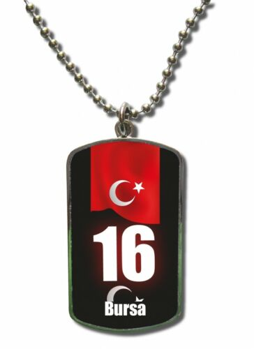 Cadena Dog Tag remolque turquía Bursa 16 Türkiye Aenianos