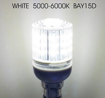 Boat White LED Navigation Light Bulb 12//24V Masthead,Stern,Anchor BAY15D