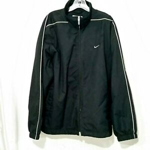 Details about Nike Black men's Full Zip Windbreaker Lined RN 56323 CA 05553 Jacket L