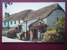 POSTCARD DEVON CROYDE - THE OLD THATCHED BARN