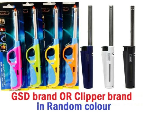 Clipper Tube Lighters Long Refillable Gas Cooker BBQ Kitchen Camping Fire Lgtr