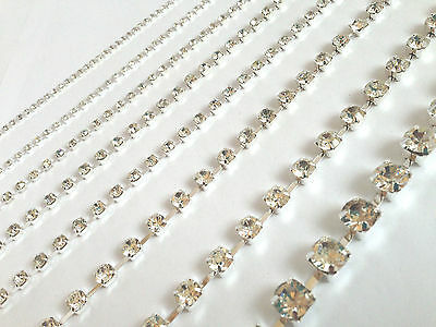 2 Meters Stitch on Diamante/Rhinestone Crystal Rope Chain - 4.5mm A GRADE GLASS