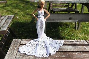 Vestiti Da Sposa Uncinetto.30 Abito Da Sposa Per Barbie Di Uncinetto Pezzo Unico Ebay