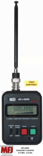 .3 MHz TO 2.8 GHz Handheld 110//220VAC Frequency Counter MFJ-886B Compact