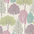 Arthouse Ellwood Multi Wallpaper 670000 Glitter Trees Forest Leaf